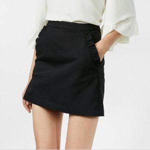 Express High Waisted Mini with Ruffle Pockets